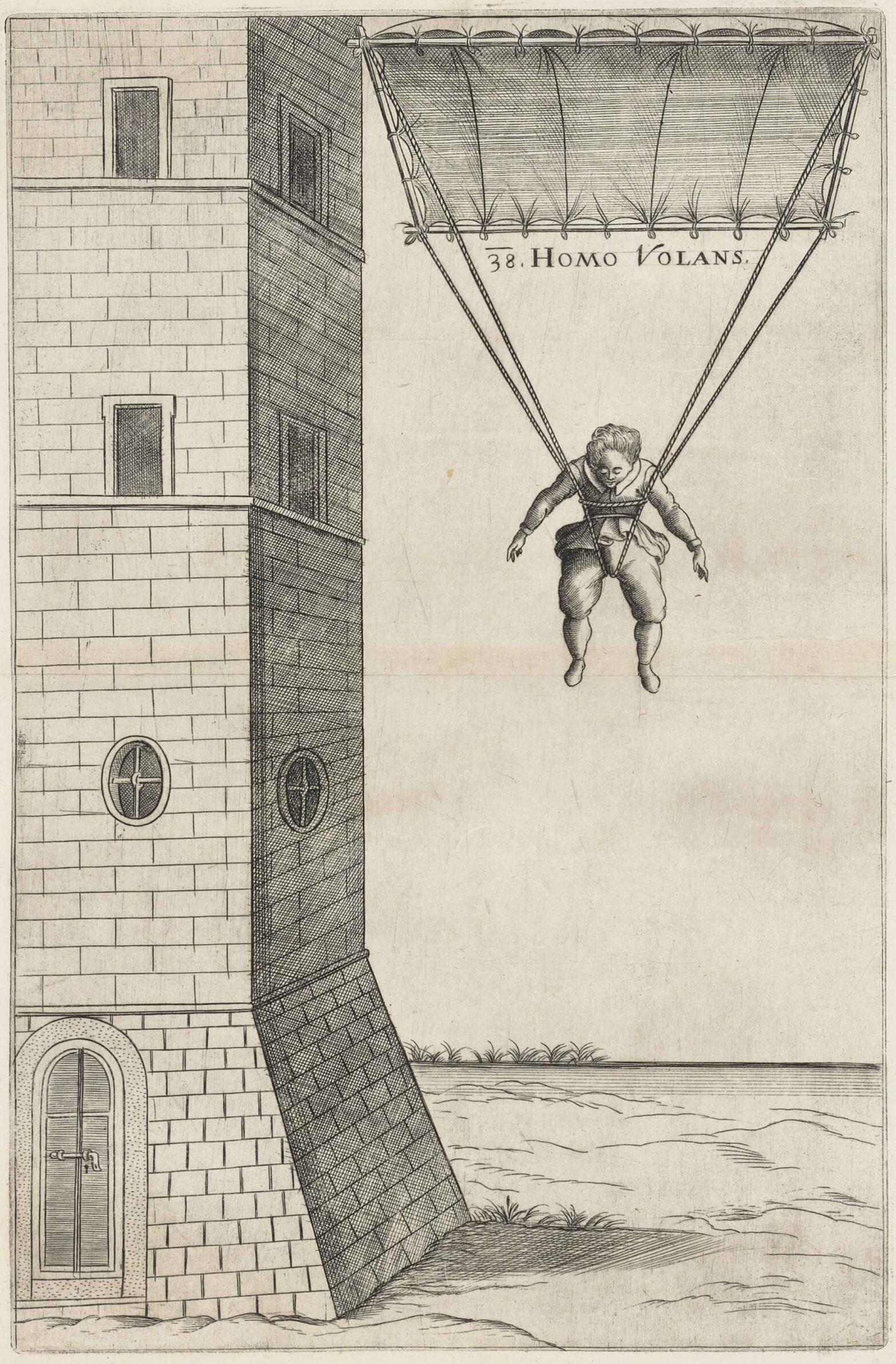 Homo volans ili leteći čovjek – Vrančićev nacrt padobrana